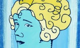 Blonde Girl Blue