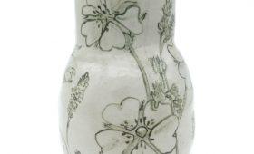 Cinquefoil, Salvia, and Smartweed Vase